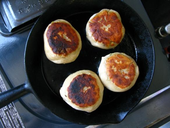 Oyaki in pan